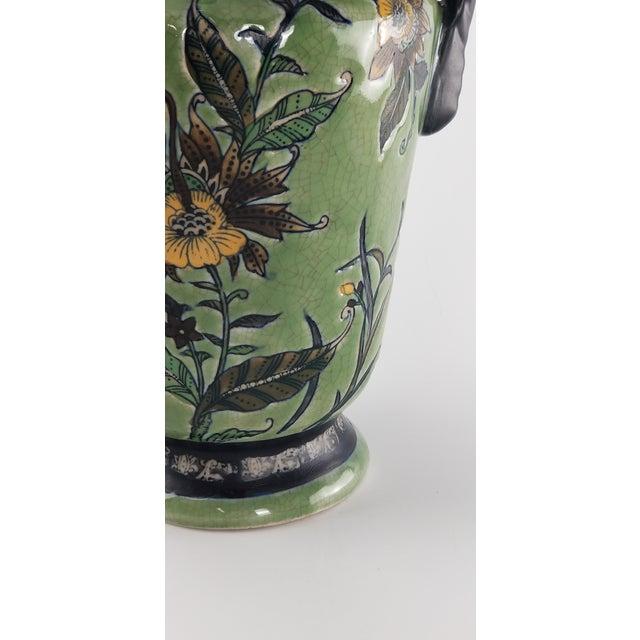 Monumental Baum Bros Vase - Jacobean Urn With Handles For Sale - Image 10 of 13
