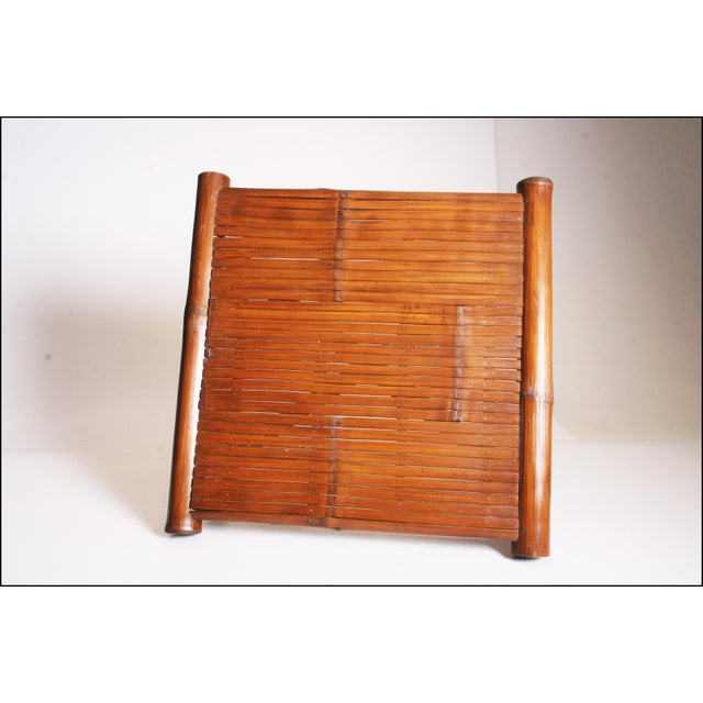 Vintage Brown Bamboo Coffee Table - Image 9 of 11