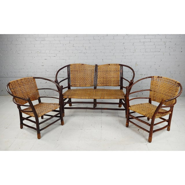 Antique 1920s Bentwood Settee and Chairs -Salon - Set of 3 For Sale - Image 12 of 12