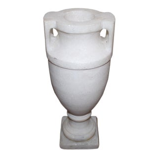 Neoclassical Style Marble Urn From New York City For Sale