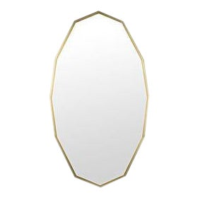Capult Mirror, Antique Brass For Sale