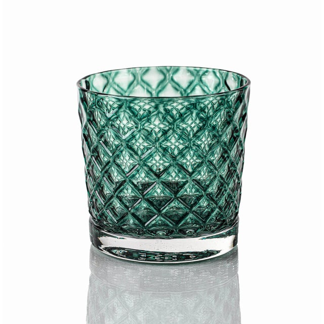 Set of 6 Mindala Glasses - 2 x Slate, 2 x Ice, 2 x Deep Pine. Retro with a modern twist, the Mindala glasses are 8-10...