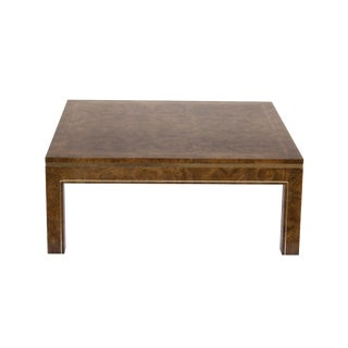 Mastercraft Coffee Table in Amboyna Burl and Brass For Sale