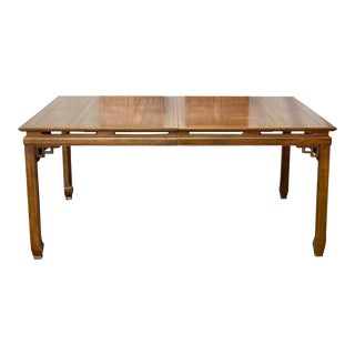 Vintage Century Chinoiserie Chin Hua Style Extension Dining Table For Sale