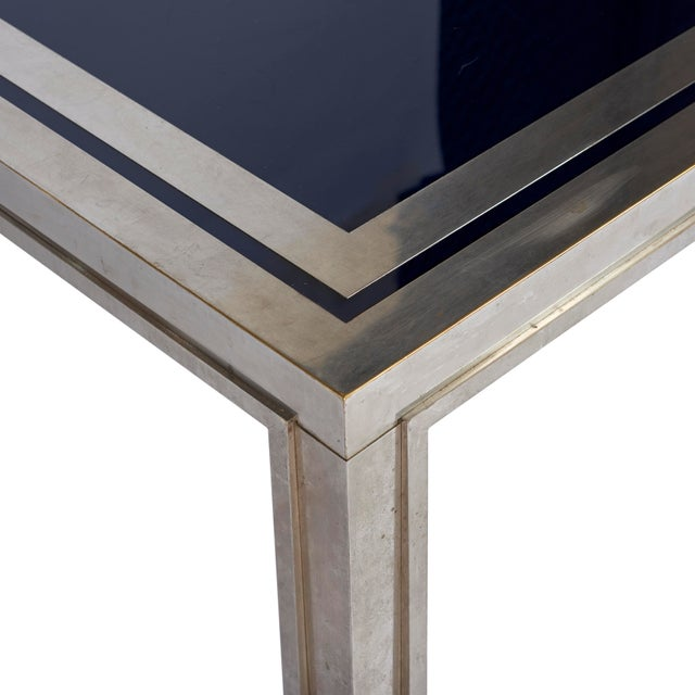 French 1950's French Steel Coffee Table For Sale - Image 3 of 7