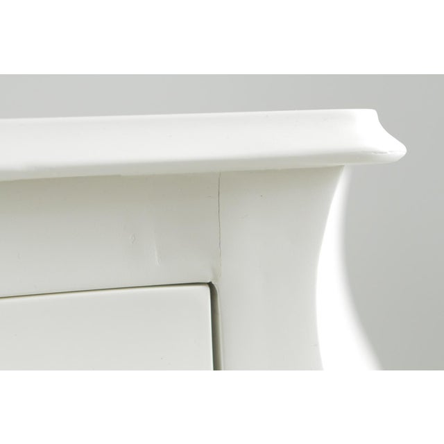 1990s Hollywood Regency Fendi Moviestarorous White Lacquer Commode For Sale - Image 10 of 12