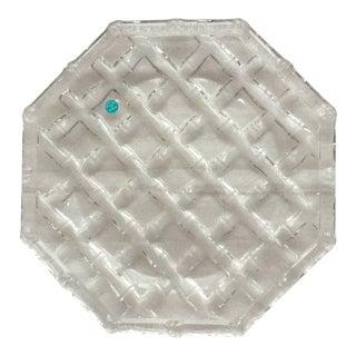 "Vintage Tiffany & Co. ""Bamboo"" Crystal Serving Platter For Sale"