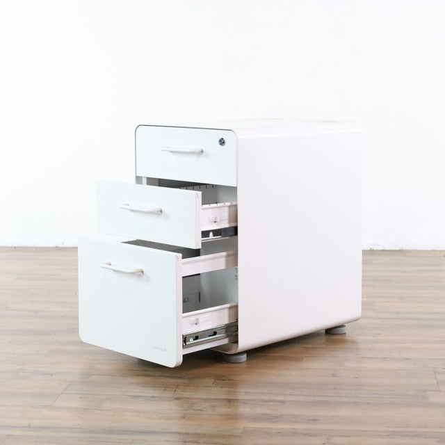 2010s Poppin White File Cabinet For Sale - Image 5 of 9