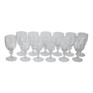 Italian Crystal Wine Goblets - Set of 12
