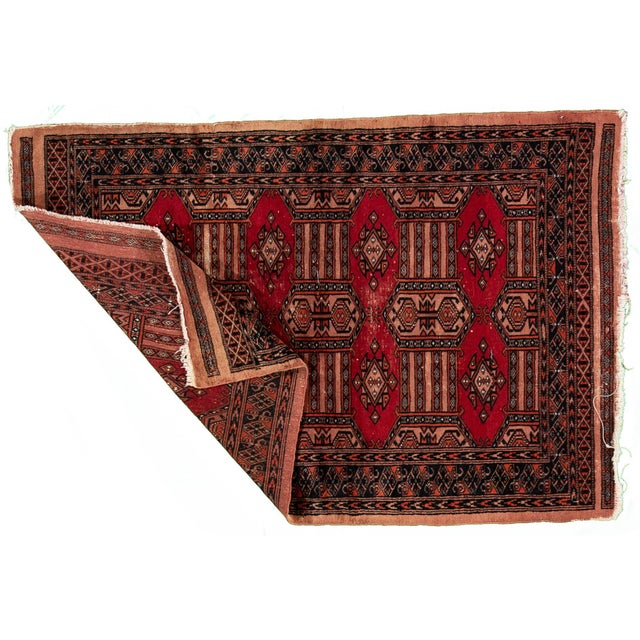 """Vintage Persian Rug, 3'02"""" X 4'10"""" For Sale In New York - Image 6 of 8"""