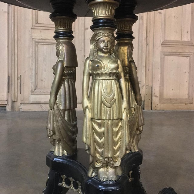 19th Century Second Empire Caryatid Center Table For Sale In Dallas - Image 6 of 12
