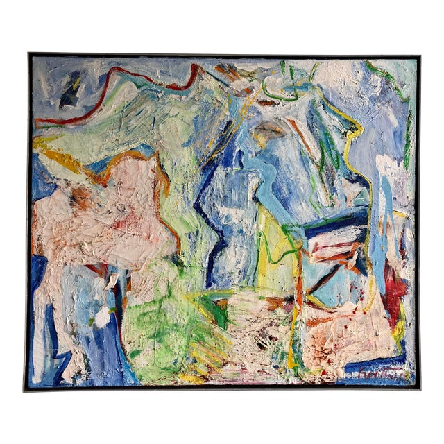 Fabulous Heavy Impasto Abstract by Thomas Koether For Sale