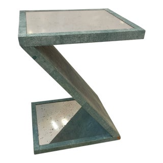 Contemporary Made Goods Zelda Z Shaped Side Table For Sale