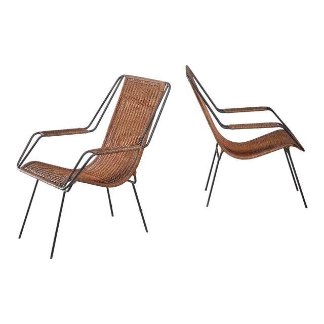 Carlo Hauner and Martin Eisler Pair of Lounge Chairs, Brazil For Sale