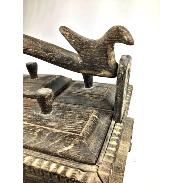 Wood 1900s Asian Hand Carved Wood Spice Box For Sale - Image 7 of 11
