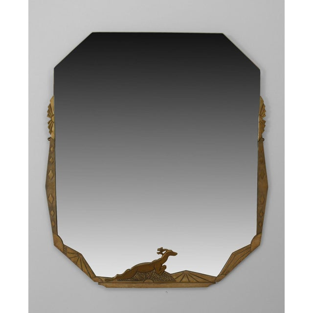 French Art Deco Wall Mirror For Sale - Image 4 of 4