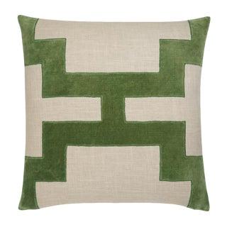 "Piper Collection Green Velvet ""Catie"" Pillow"