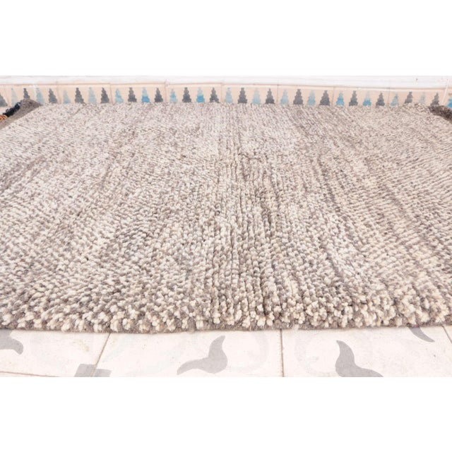 "Beni Ourain Moroccan Rug - 3'5"" x 4'11"" - Image 3 of 4"