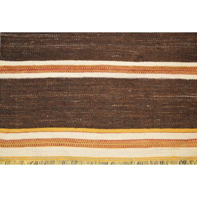 "Shabby Chic Vintage Turkish Anatolian Hand Made Organic Wool Tribal Kilim,3'5""x6'6"" For Sale - Image 3 of 4"