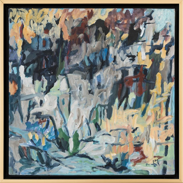 """Laurie MacMillan """"Great Outdoors"""" Abstract Painting, Framed For Sale In Los Angeles - Image 6 of 6"""