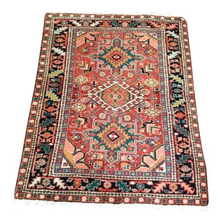 Persian Heriz Karajeh Rug - 3′6″ × 5′4″ For Sale