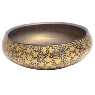 Golden Maple Leaf Kashmiri Bowl