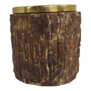 Italian Marble Wood Look Pencil Cup