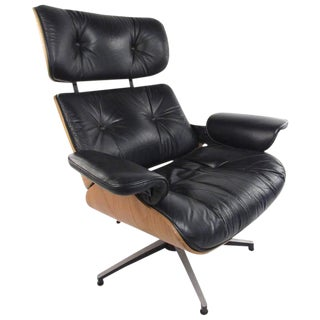 Vintage Modern Eames Style Swivel Lounge Chair For Sale