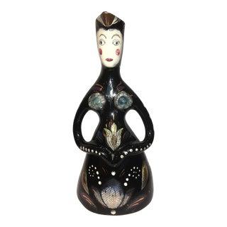 Sascha Brastoff Female Figure Water Pitcher Vase For Sale