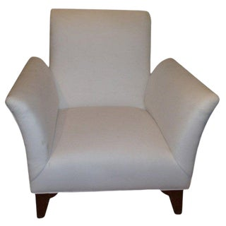 1930s Vintage French Art Deco Dominique Style Upholstered Club Chair For Sale