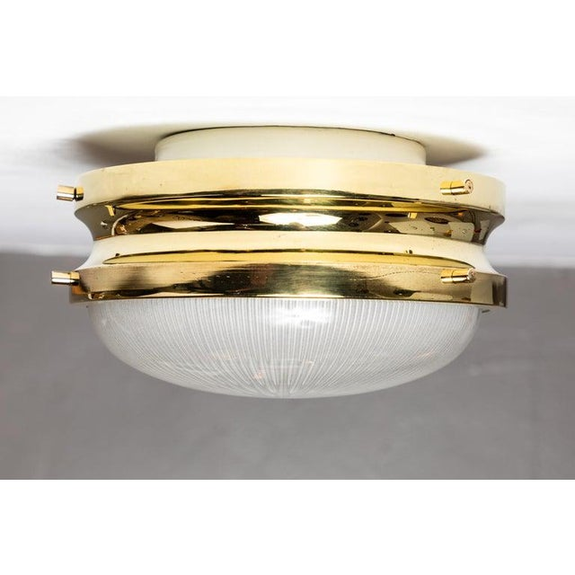 1960s Sergio Mazza Brass 'Sigma' Wall or Ceiling Light for Artemide For Sale - Image 10 of 13