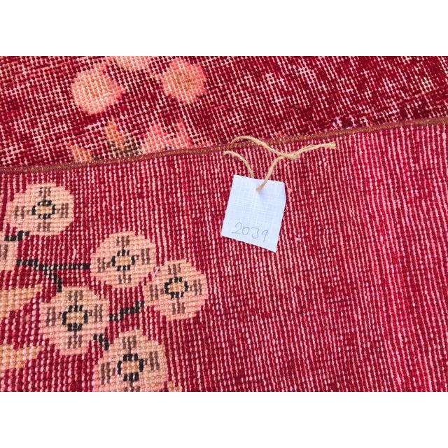 Turkish Tribal Anatolian Distressed Vintage Rug - 7′ × 10′2″ For Sale - Image 4 of 11