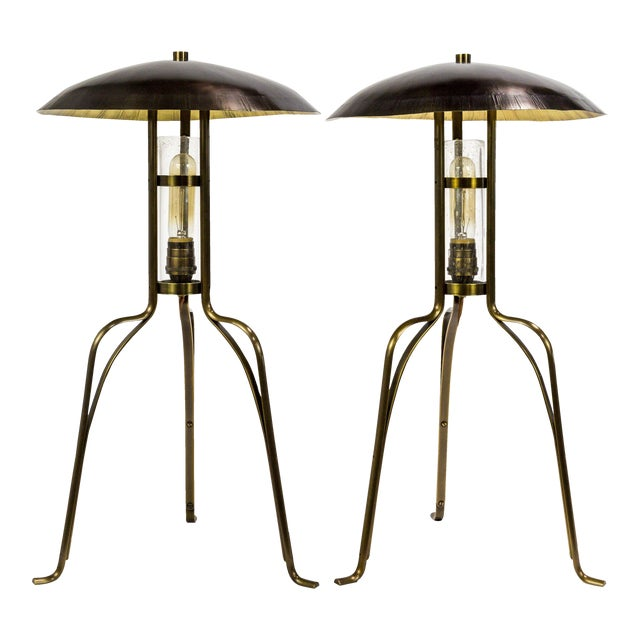 Tuell & Reynolds Bancroft Table Lamps (2 Available) For Sale