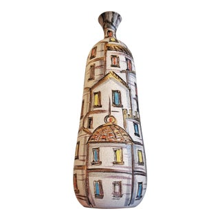 Fratelli Fanciullacci 'Roof Tops' Decor Bottle Vase (Italy) For Sale