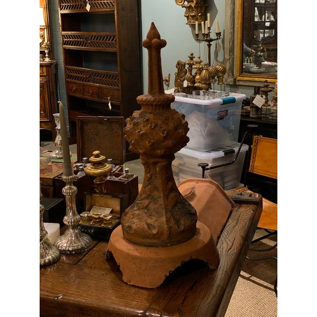 French Terra Cotta Roof Finials - a Pair For Sale - Image 4 of 6