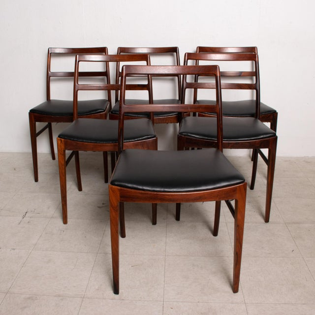 Mid Century Danish Modern Set of 6 Dining Chairs by Arne Vodder for Sibast 430 For Sale - Image 11 of 11
