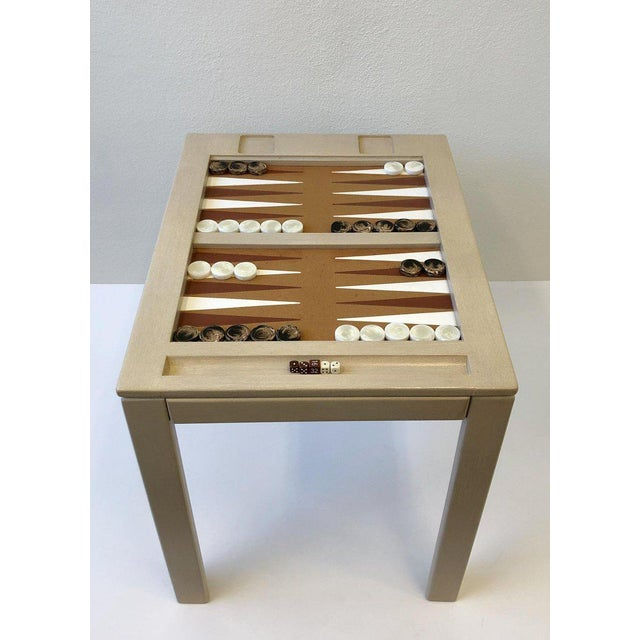 Lacquered Backgammon Table by Steve Chase For Sale In Palm Springs - Image 6 of 11