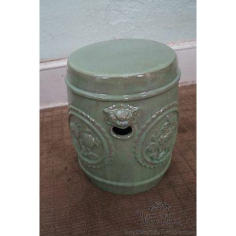 Vintage Chinese Celadon Garden Seat For Sale - Image 4 of 13