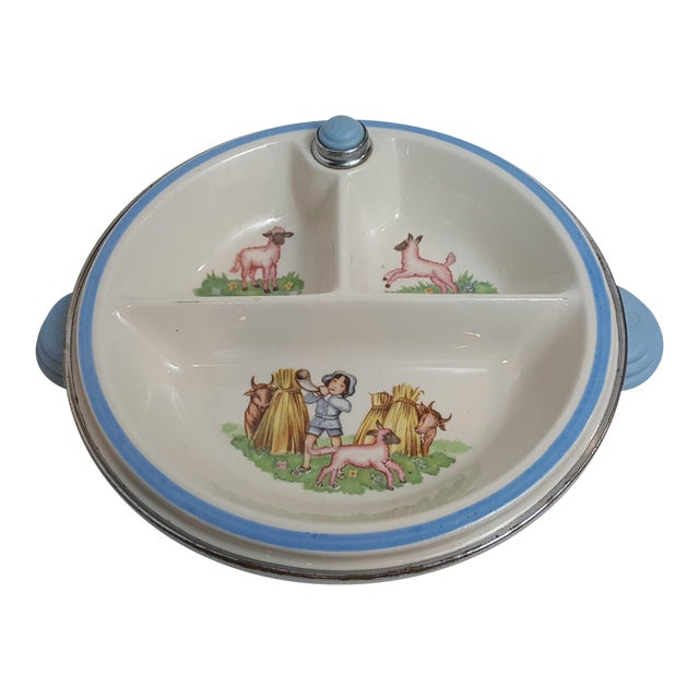 Little Boy Blue Childs Warmer Plate For Sale