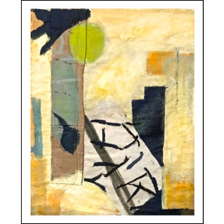 Fun Large Contemporary Mixed Media Collage Abstract Painting on Paper For Sale