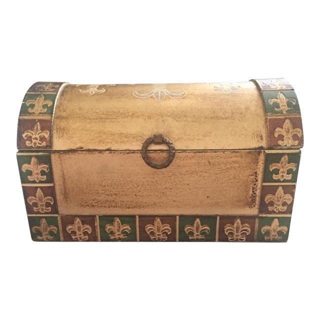 Antique Italian Florentine Gold Music Box Jewelry Box - Image 1 of 11