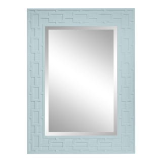 Lattice Mirror, Palladian Blue For Sale