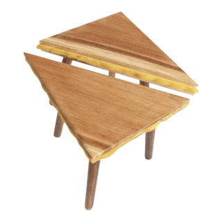 Modern Grilled Cheese Side Tables - 2 Pieces For Sale