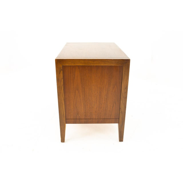 Drexel Mid Century Walnut Nightstand For Sale - Image 11 of 13