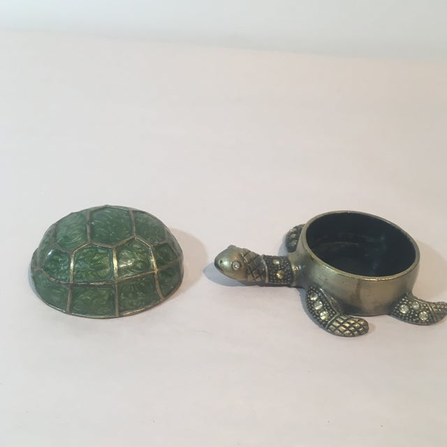 Brass & Green Turtle Votive Candle Holder - Image 6 of 9