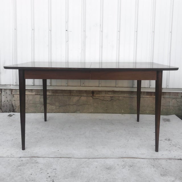 Mid-Century Dining Table With Leaf For Sale - Image 13 of 13