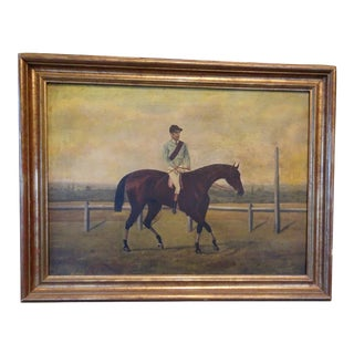 Jockey on Race Horse Painting For Sale