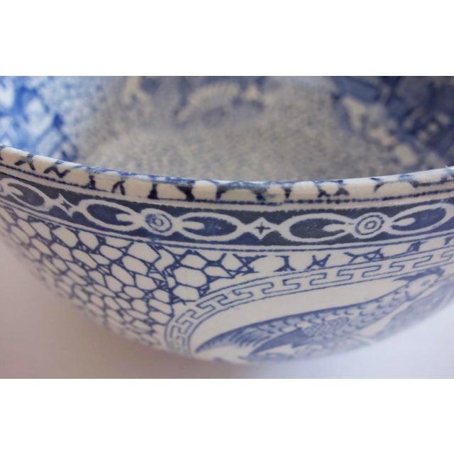 Ceramic 1930's Vintage William Adams Chinese Bird Pattern Bowl & Jug For Sale - Image 7 of 13
