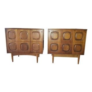 Mid Century Modern Broyhill Sculptra Cabinets - a Pair