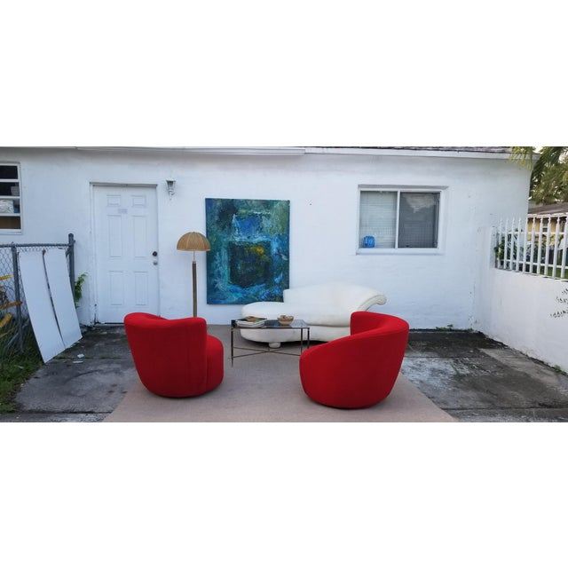 1980s Vintage Vladimir Kagan for Preview Chaise Lounge For Sale In Miami - Image 6 of 10